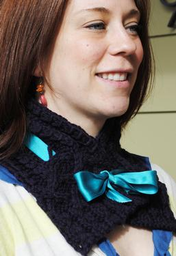 Braided Ribbon Cowl
