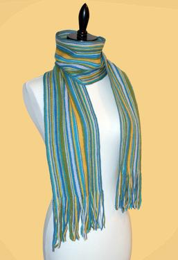 Simply Striped Crochet Scarf