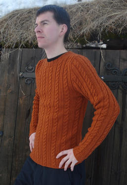 Ribbed Cable Pullover