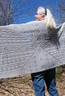 Lady of the Canyon Shawl