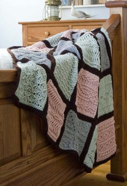 Pam's Comfort Cables Crochet Afghan