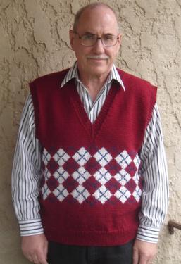 Classic Argyle Vest Knitting Patterns And Crochet