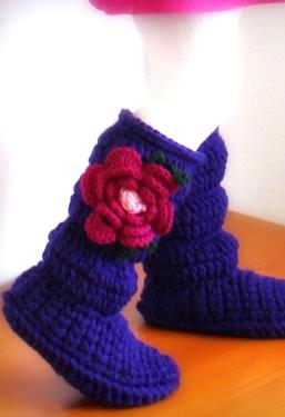 Toddler Cozy Crochet Boots