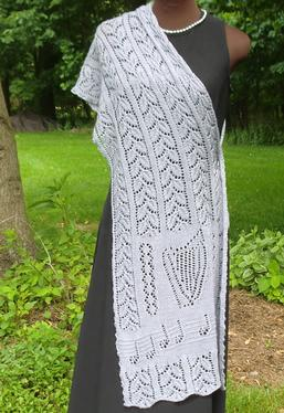 Octavia's Garlands Lace Shawl