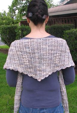 Kestrel Wings Crochet Shawl