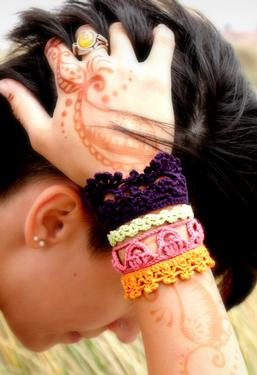 Plethora Antique Crochet Lace Cuff