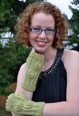 Autumn Leaves Fingerless Gloves
