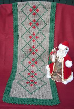 Holiday Crochet Table Runner