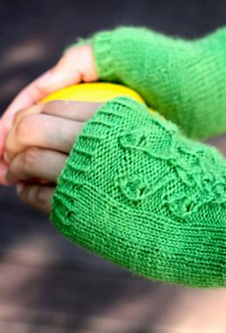 Viridescent Fingerless Mitts