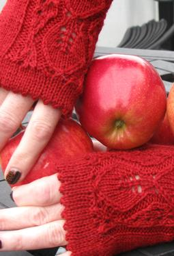 Apple of My Eyelet Fingerless Gloves