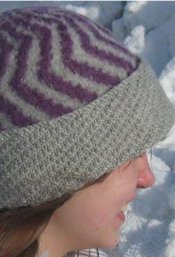 The Two Color Felted Hat