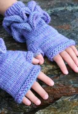 All Frills Fingerless Mitts