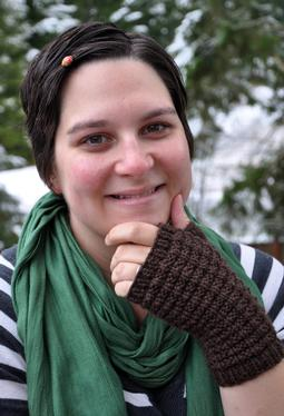 Waffle Knit Mitts