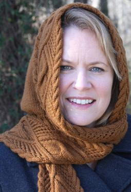 Lace cable hooded scarf knitting patterns and crochet patterns lace cable hooded scarf dt1010fo