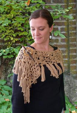Under the Willow Tree Lacy Crochet Wrap