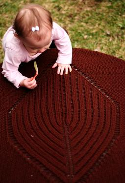 Big Leaf Baby Blanket
