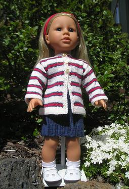 Stars & Stripes Doll Sweater