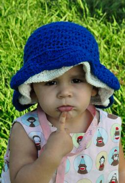 Thandie Star Stitch Crochet Sun Bonnet