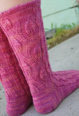Fuchsia Valley Socks