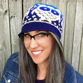All Ages Owls Up All Night Crochet Beanie
