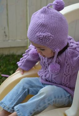 Heirloom Ring of Hearts Cable Child Sweater