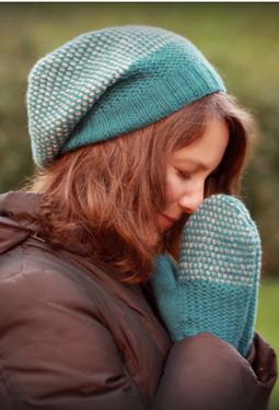 Wicker Park Slouch Hat & Mittens Set