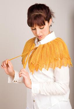 Golden Fichu Shawl