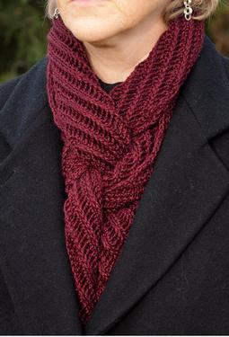 Bias Rib Scarf Knitting Patterns And Crochet Patterns From