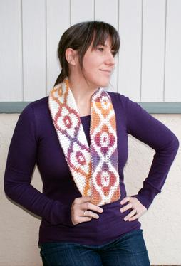 Sunset Infinity Crochet Scarf