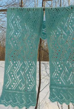 Rivers of Ice Lace Scarf