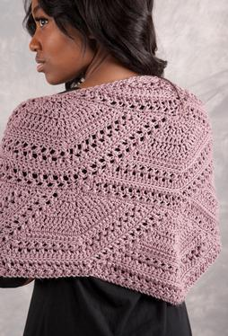 Closing Fans Crochet Shawl