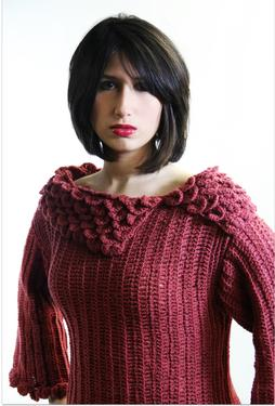 Crocodile Stitch Crochet Tunic