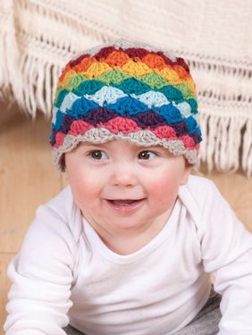 Darling Little Rainbow Crochet Hat Pattern