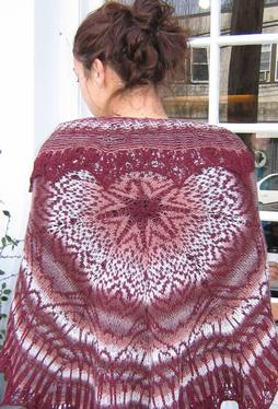Wendy P Stranded Shawl