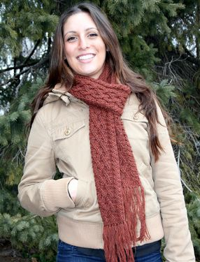 Classic Cabled Crochet Scarf Pattern
