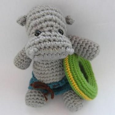 Hippo the Swimmer Crochet Pattern