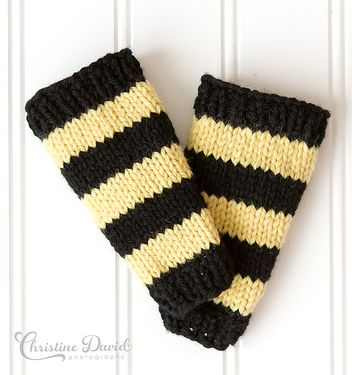 Bumble Bee Leg Warmers Pattern