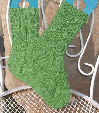 Winter Wheat Socks Pattern