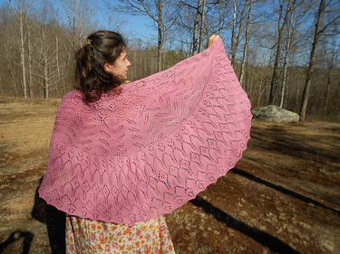 Raspberry Cream Pi Shawl Pattern