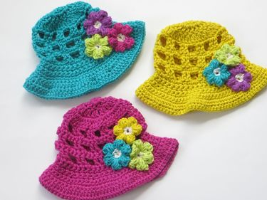 Sun Hat for Girls Crochet Pattern