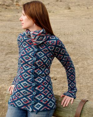 Oblique Motion Cardigan Pattern
