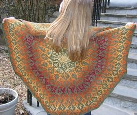 Fall Out Stranded Shawl