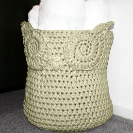 Owl Crochet Basket