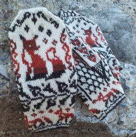 Knitting Pattern For Fox Mittens : Fox Crossing Mittens - Knitting Patterns and Crochet ...