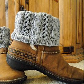 Cable Eyelet Boot Cuffs