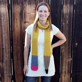 Sinuous Pencil Scarf