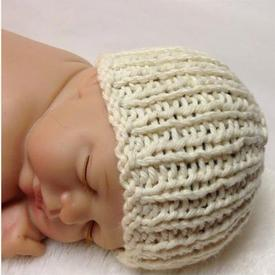 Organic Cotton Heirloom Baby Hat