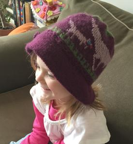 Mother & Baby Dinosaur Floppy-Brimmed Hat