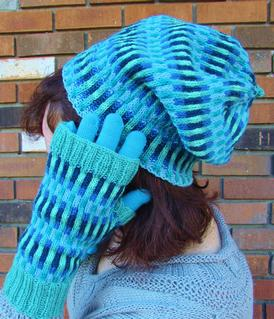 Dueling Gradients: Slouchy Hat & Mitts Set