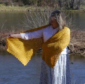 Yellow Brick Road Shawl